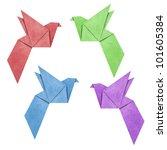 origami bird papercreft made... | Shutterstock . vector #101605384