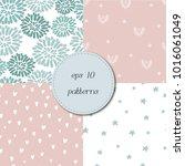set of simple tender trendy... | Shutterstock .eps vector #1016061049