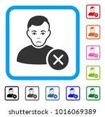 unhappy user delete vector icon.... | Shutterstock .eps vector #1016069389