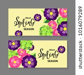spring background with... | Shutterstock .eps vector #1016079289