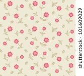 cute seamless  floral pattern... | Shutterstock .eps vector #101609029