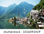 village of hallstatt in austria | Shutterstock . vector #1016092429