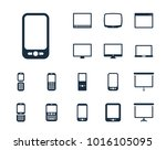 smartphone icon in set on the... | Shutterstock .eps vector #1016105095