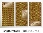 vector set packaging templates... | Shutterstock .eps vector #1016110711