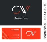 c   w joint logo letter design... | Shutterstock .eps vector #1016111041