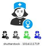 joy gynecologist lady doctor... | Shutterstock .eps vector #1016111719