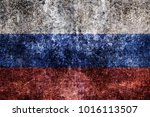 grunge russia flag  background | Shutterstock . vector #1016113507