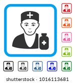 smiling apothecary doctor... | Shutterstock .eps vector #1016113681
