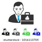 joyful shit accounter vector... | Shutterstock .eps vector #1016113705