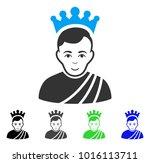 cheerful emperor vector icon.... | Shutterstock .eps vector #1016113711