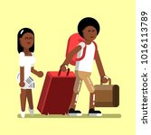 young afro american couple | Shutterstock .eps vector #1016113789