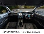 autonomous driving car and... | Shutterstock . vector #1016118631