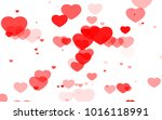 red and pink heart. valentine's ... | Shutterstock . vector #1016118991