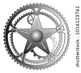 mechanism with gears and a star.... | Shutterstock .eps vector #1016123761
