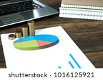 step of coins stacks with... | Shutterstock . vector #1016125921