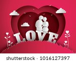 illustration of love and... | Shutterstock .eps vector #1016127397