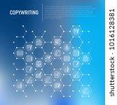 copywriting concept in... | Shutterstock .eps vector #1016128381