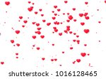 red and pink heart. valentine's ... | Shutterstock . vector #1016128465