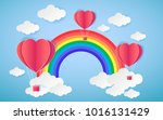 card valentine's day balloon... | Shutterstock .eps vector #1016131429