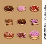 set of nine biscuits | Shutterstock .eps vector #101613367