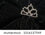 silver diadem inlaid with...   Shutterstock . vector #1016137549