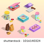 confectionery packaging cartoon ... | Shutterstock . vector #1016140324