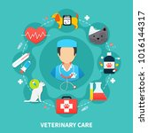 pet care concept with vet and... | Shutterstock . vector #1016144317