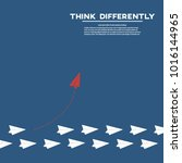 think differently business... | Shutterstock .eps vector #1016144965
