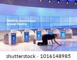 davos  switzerland   jan 26 ... | Shutterstock . vector #1016148985