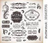 retro label style collection  ... | Shutterstock .eps vector #101615731