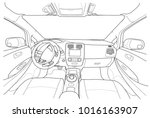 interior of electromobile with...   Shutterstock .eps vector #1016163907