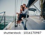 happy couple taking a romantic... | Shutterstock . vector #1016170987
