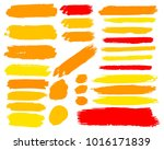 collection of hand drawn golden ... | Shutterstock .eps vector #1016171839