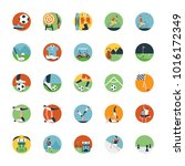 flat icon set of sports icon  | Shutterstock .eps vector #1016172349