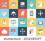a pack of digital marketing... | Shutterstock .eps vector #1016183197