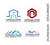 real estate logo set   abstract ... | Shutterstock .eps vector #1016186665