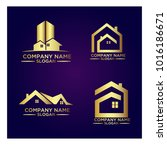 real estate logo set   abstract ... | Shutterstock .eps vector #1016186671