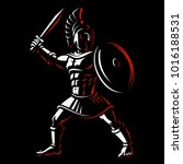 spartan warrior. vector... | Shutterstock .eps vector #1016188531