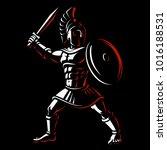 spartan warrior. vector... | Shutterstock .eps vector #1016188531