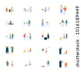 people vector icons pack in... | Shutterstock .eps vector #1016189449
