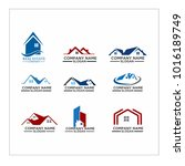 real estate logo set   abstract ... | Shutterstock .eps vector #1016189749