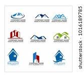 real estate logo set   abstract ...   Shutterstock .eps vector #1016189785