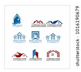 real estate logo set   abstract ... | Shutterstock .eps vector #1016190679