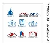 real estate logo set   abstract ...   Shutterstock .eps vector #1016190679