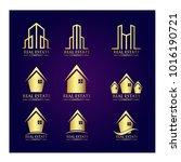 real estate logo set   abstract ...   Shutterstock .eps vector #1016190721