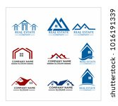 real estate logo set   abstract ... | Shutterstock .eps vector #1016191339