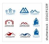 real estate logo set   abstract ...   Shutterstock .eps vector #1016191339