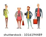 teachers retro cartoon... | Shutterstock . vector #1016194489