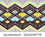ikat geometric folklore... | Shutterstock .eps vector #1016194774