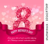 mother day background with silk ...   Shutterstock .eps vector #1016197549